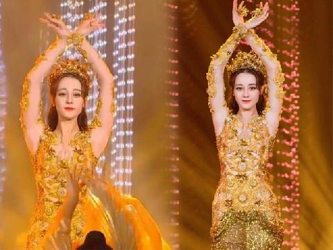 Địch Lệ Nhiệt Ba bị chê mập và múa thô khi hóa thân thành 'Nữ thần Kim Ưng'