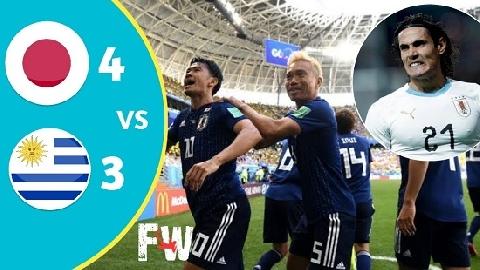 Nhật Bản 4-3 Uruguay (giao hữu quốc tế 2018)