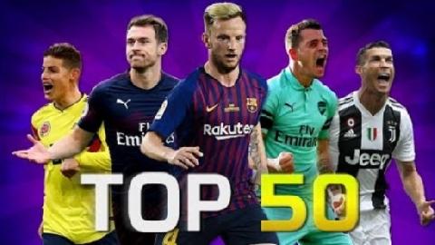 50 bàn thắng đẹp nhất TG tháng 10/2018