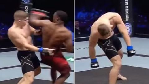 Võ sĩ Nam Phi knock-out đối thủ bằng đòn cùi chỏ tuyệt đẹp!