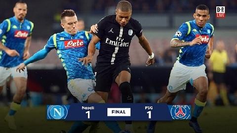 Napoli 1-1 PSG (Lượt 4 bảng C Champions League 2018/19)