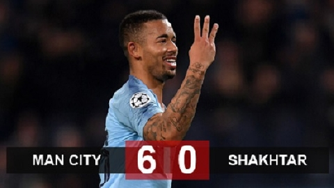 Man City 6-0 Shakhtar Donetsk (Lượt trận thứ 4 bảng F Champions League)