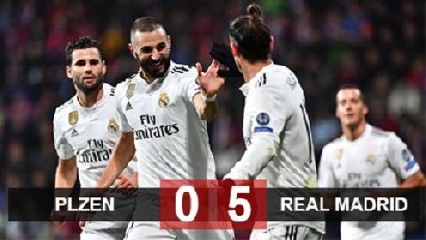 Viktoria Plzen 0–5 Real Madrid (Lượt 4 bảng G Champions League)