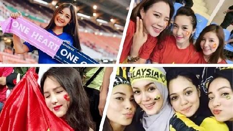 Mỹ nữ Đông Nam Á đua nhau khoe sắc trên khán đài AFF Cup