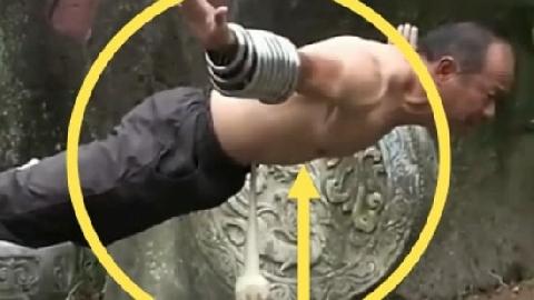 Kung-fu bậc thầy: Dùng bụng thử sắt nhọn