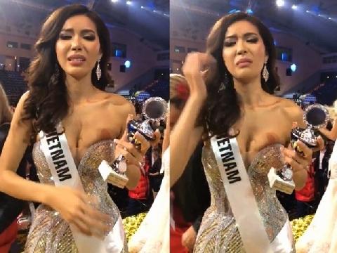 Minh Tú bật khóc, xin lỗi khán giả vì dừng lại ở top 10 Miss Supranational 2018