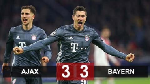 Ajax 3-3 Bayern Munich (Vòng bảng Champions League 2018/19)