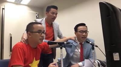 BLV Khắc Cường và Biên Cương bình luận khi VN vô địch AFF Cup 2018