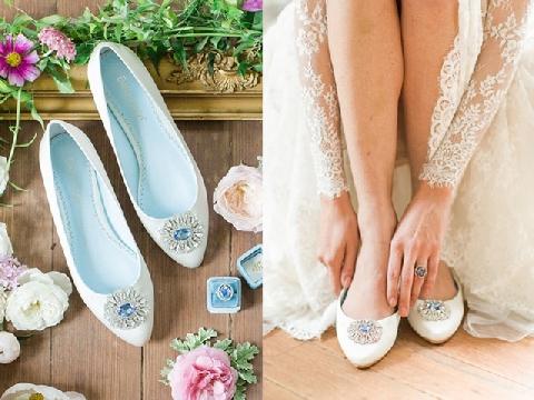 Cô dâu đi giày bệt - xu hướng mới trong mùa cưới 2019
