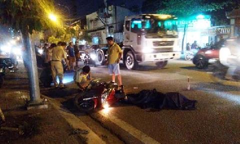 TP HCM: Container bỏ chạy sau khi tông chết người