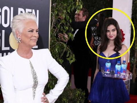Tin được không! 'Cô gái bưng nước' xinh đẹp, chiếm hết spotlight của sao Hollywood ở Quả Cầu Vàng 2019