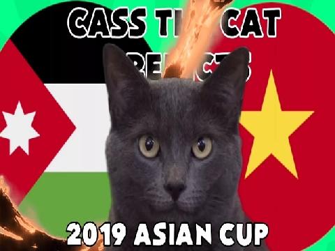 Mèo tiên tri dự đoán Việt Nam dừng chân trước Jordan