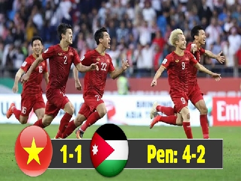 Việt Nam 1-1 (pen: 4-2) Jordan (Vòng 1/8 Asian Cup 2019)