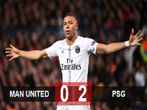 M.U 0-2 PSG (Lượt đi vòng 1/8 Champions League)