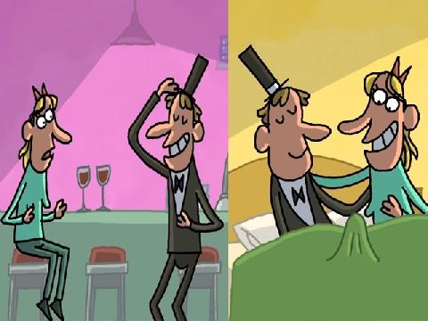 5 phút cười xả láng với loạt phim hoạt hình valentine 'cực mặn'