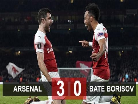 Arsenal 3-0 BATE Borisov (Lượt về vòng 1/16 Europa League)