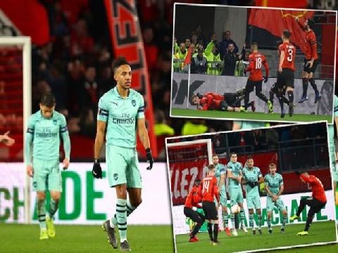Rennes 3-1 Arsenal (Lượt đi vòng 1/8 Europa League)
