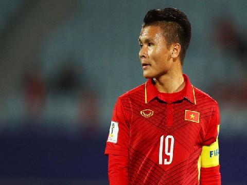 Quang Hải mang băng đội trưởng U23 Việt Nam