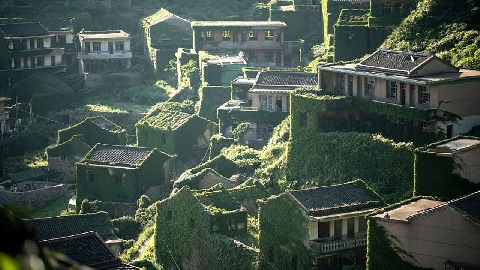 ''Ngôi làng ma'' nằm giữa biển ở Trung Quốc