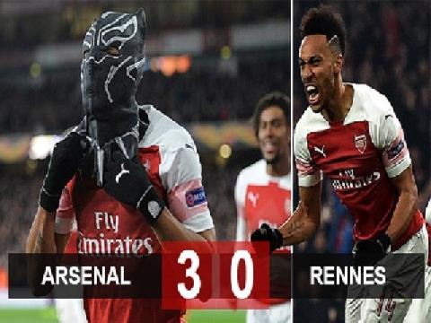 Arsenal 3-0 Rennes (Lượt về vòng 1/8 Europa League)