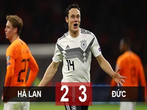 Hà Lan 2-3 Đức (bảng C vòng loại EURO 2020)