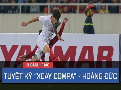 """Hoàng Đức """"xoay com-pa"""" như Zidane, U23 Indonesia hú vía!"""