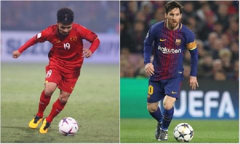 Pha solo như Messi qua 1 rừng hậu vệ Khánh Hòa của Quang Hải