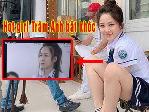Clip hot girl Trâm Anh bật khóc trong phim vừa bị cắt vai diễn