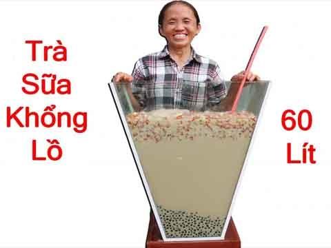 Làm cốc trà sữa khổng lồ 60 lít - Bà Tân Vlog