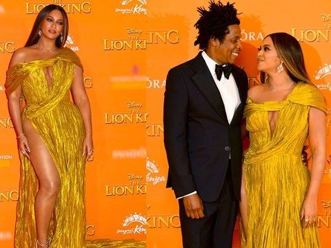 Beyonce diện đầm xẻ tít tận hông siêu sexy của NTK Công Trí
