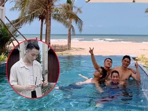 Đưa cả nhà đi nghỉ mát sang chảnh, chủ tịch Sơn Tùng vẫn quyết không khoe body!