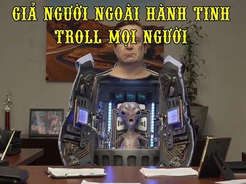 Giả người ngoài hành tinh troll mọi người