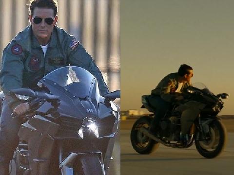 Tom Cruise cưỡi moto khủng tái xuất với 'Top Gun 2' sau 33 năm