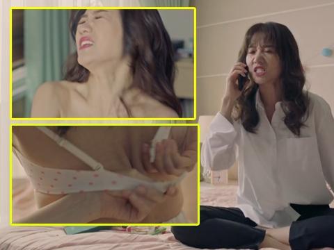 Hari Won gây sốc khi quăng áo ngực trong phim mới