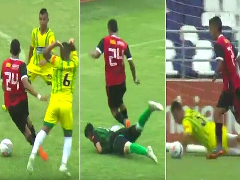 Siêu phẩm lừa bóng qua 7 cầu thủ từ giữa sân rồi ghi bàn