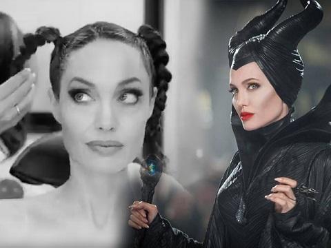 Hé lộ clip: Angelina Jolie độn gò má, dán răng giả để hóa thân thành Maleficent