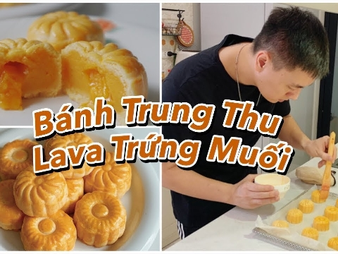 Hot dad Kiên Hoàng tự tay làm bánh trung thu nhân trứng muối chảy siêu ngon