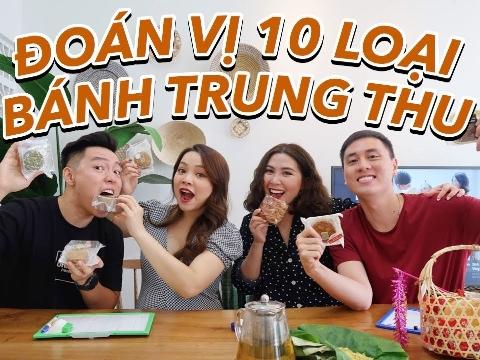 Kiên Hoàng cùng Heo Mi Nhon mời vợ chồng Trinh Phạm thử bánh trung thu vị lạ