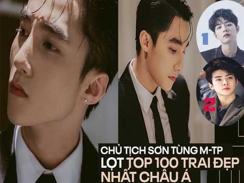 Sơn Tùng bất ngờ lọt top 100 gương mặt nam thần đẹp nhất châu Á