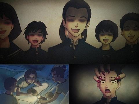 Hoạt hình kinh dị: Cô gái sơn móng tay đỏ (Yami Shibai 3 - Tập 7)