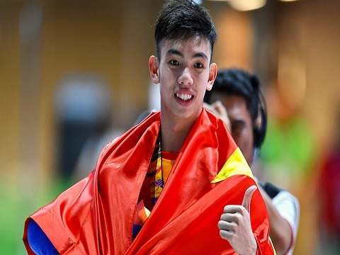 Huy Hoàng phá kỷ lục SEA Games nội dung 400 m tự do nam