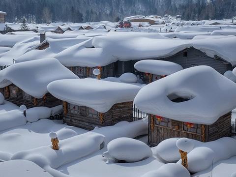 Tròn mắt ngắm cảnh tuyết rơi dày như bánh kem