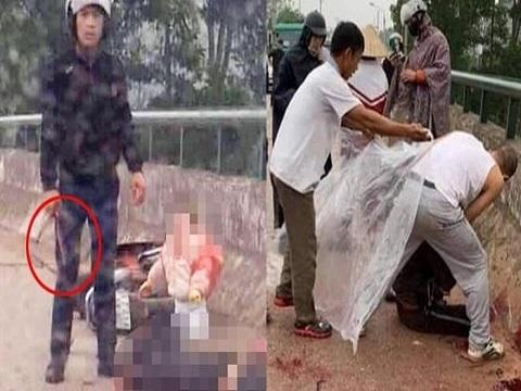 Truy tìm đối tượng chém người phụ nữ chở con nhỏ trên cầu ở Thái Nguyên