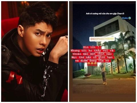 Noo Phước Thịnh bị fan cuồng tới tận cửa nhà check in giữa đêm