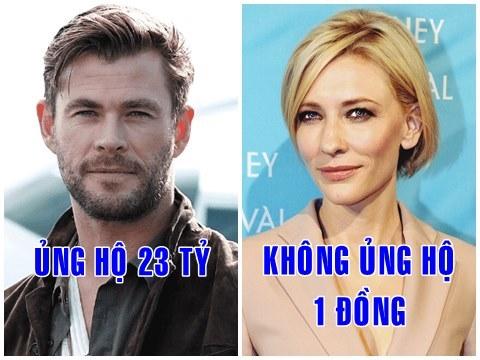 Dân mạng 'cà khịa' hàng loạt ngôi sao nổi tiếng sau động thái chi 23 tỷ quyên góp của Thor