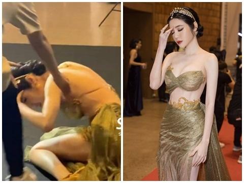Elly Trần ngất xỉu trên thảm đỏ sau tin đồn chồng ngoại tình