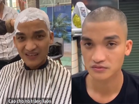 Mạc Văn Khoa khoe clip cạo trọc đầu để đóng phim hài Tết