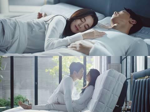 Bi Rain, Kim Tae Hee lần đầu đóng quảng cáo có cảnh âu yếm 'trên giường'