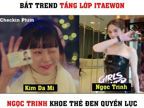 Bắt trend 'Tầng Lớp Itaewon', Ngọc Trinh khoe thẻ đen quyền lực