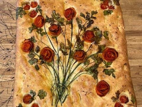 Biến mẻ bánh nướng thành bức tranh nghệ thuật